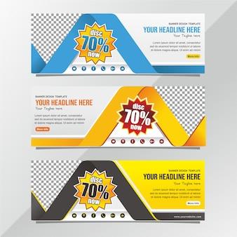Modello di progettazione di banner vendita professionale