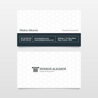 Modello di progettazione di biglietti da visita in stile professionale corporativo dello studio legale