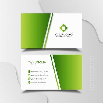 Modello di progettazione di biglietto da visita professionale verde