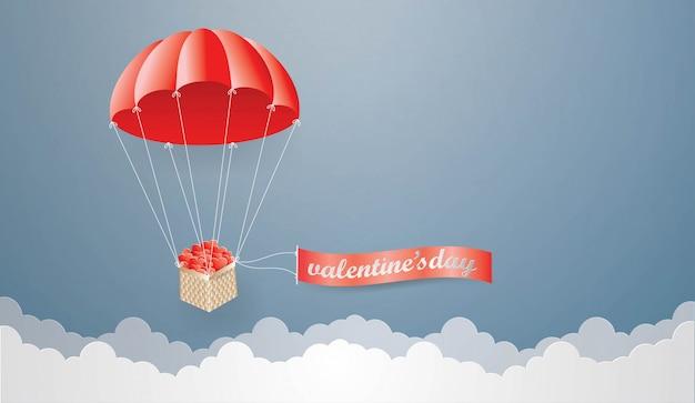 Modello di progettazione di carta di san valentino