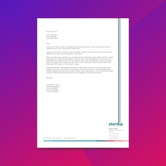 Modello di progettazione di carta intestata di affari corporativi