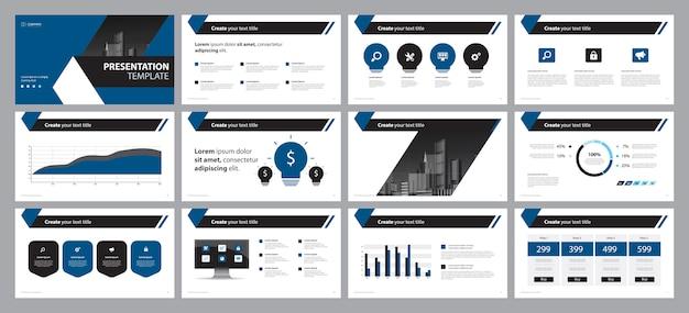 Modello di progettazione di layout diapositiva presentazione aziendale