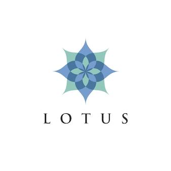 Modello di progettazione di logo del fiore di loto di loto per eco, bellezza, spa, yoga, società mediche.