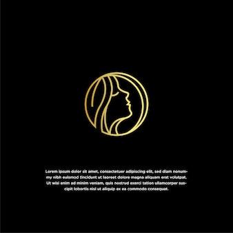Modello di progettazione di logo di bellezza naturale