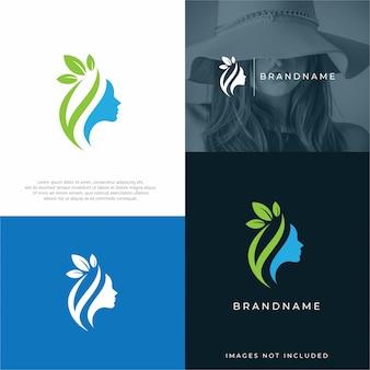 Modello di progettazione di logo di bellezza