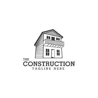 Modello di progettazione di logo di costruzione e design