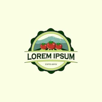 Modello di progettazione di logo di fattoria