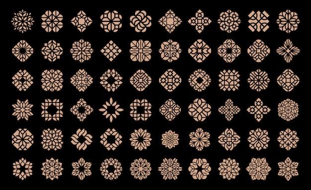 Modello di progettazione di logo di fiori di lusso