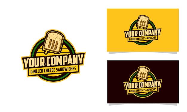 Modello di progettazione di logo di griglia di formaggio