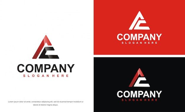 Modello di progettazione di logo di lettera moderna ac