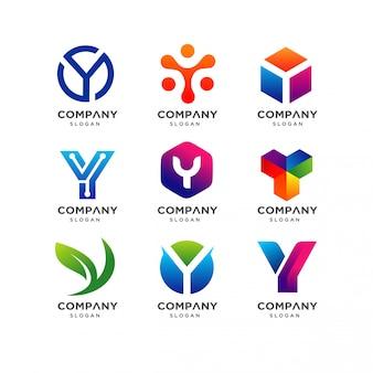 Modello di progettazione di logo di lettera y.