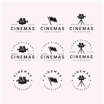 Modello di progettazione di logo di simbolo di film di cinema