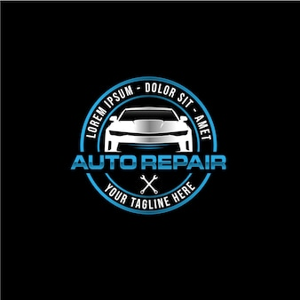 Modello di progettazione di logo di società di riparazione auto