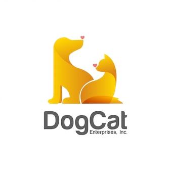 Modello di progettazione di logo di vettore del negozio di animali