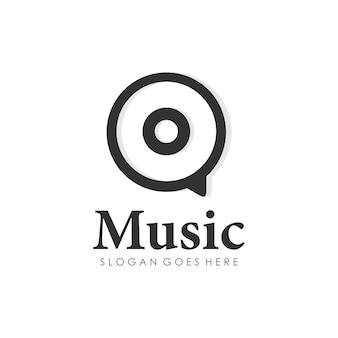 Modello di progettazione di logo disc musica disco