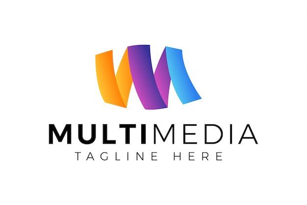 Modello di progettazione di logo lettera iniziale m