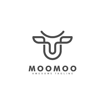 Modello di progettazione di vettore dell'illustrazione di concetto della foglia della mucca