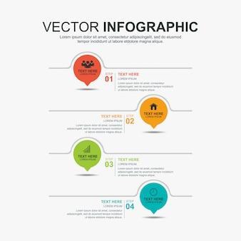 Modello di progettazione elementi infografica timeline