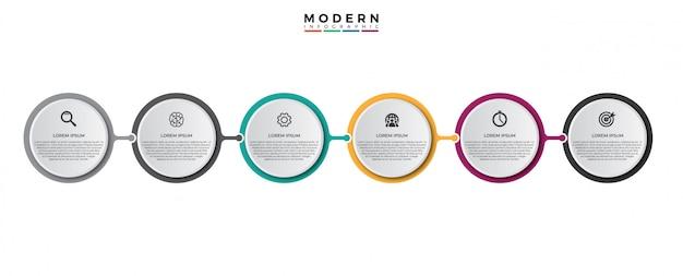 Modello di progettazione etichetta vettoriale infografica