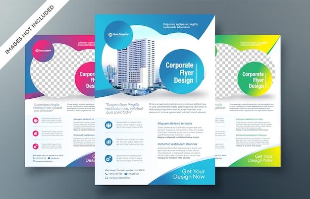 Modello di progettazione flyer aziendale