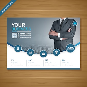 Modello di progettazione flyer business copertina a4