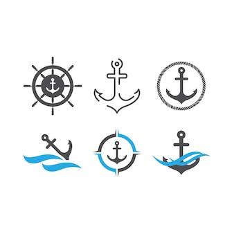 Modello di progettazione grafica di ancoraggio