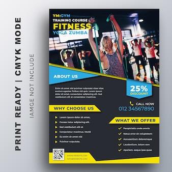 Modello di progettazione gym fitness flyer creativo