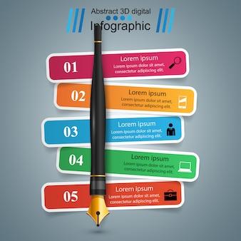 Modello di progettazione infografica 3d