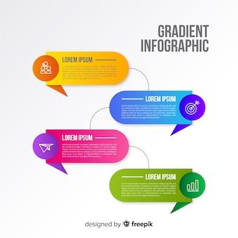 Modello di progettazione infografica colorato