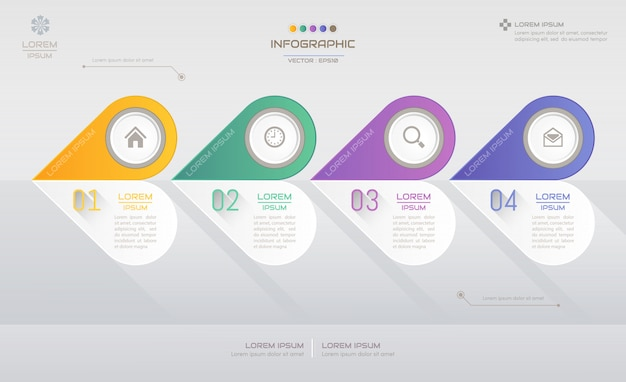 Modello di progettazione infografica con icone