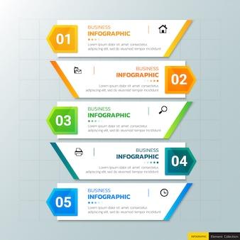 Modello di progettazione infografica di affari.