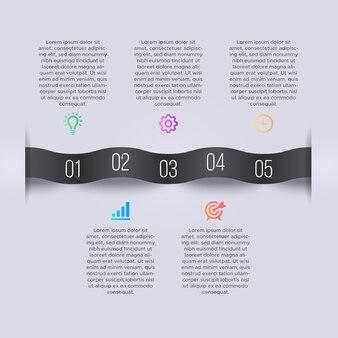 Modello di progettazione infografica di affari