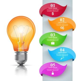 Modello di progettazione infografica e icone di marketing.