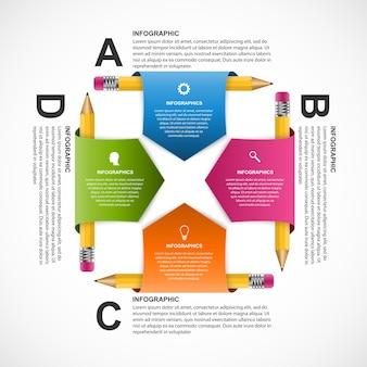 Modello di progettazione infografica educazione.