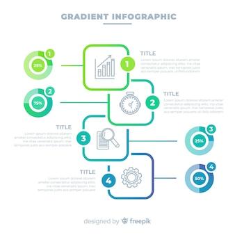 Modello di progettazione infografica gradiente
