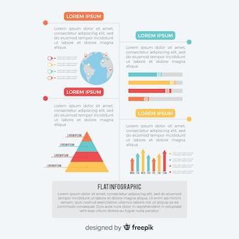 Modello di progettazione infografica piatta