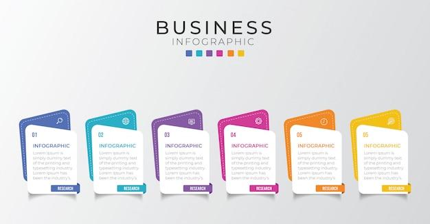 Modello di progettazione infografica semplice. illustrazione piatta per presentazione, relazione.
