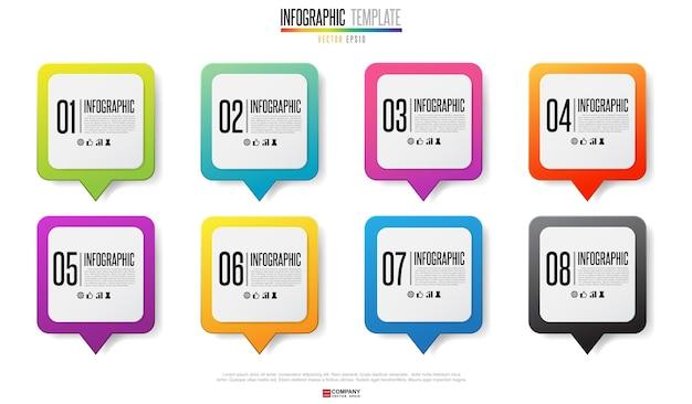 Modello di progettazione infografica timeline