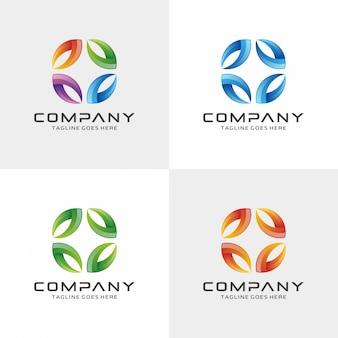 Modello di progettazione logo 3d.