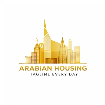 Modello di progettazione logo arabo proprietà