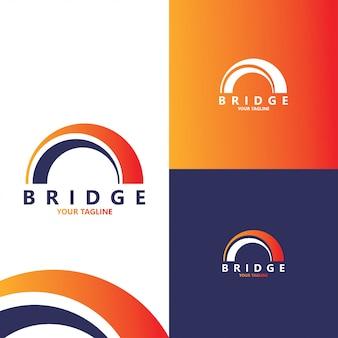 Modello di progettazione logo astratto ponte creativo