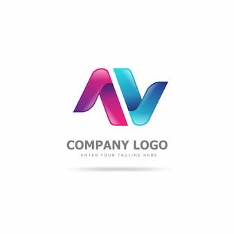 Modello di progettazione logo creativo e moderno