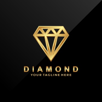 Modello di progettazione logo diamante