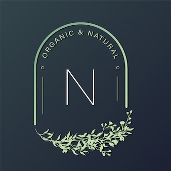 Modello di progettazione logo naturale per il branding, identità aziendale.