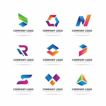 Modello di progettazione logo tech moderna