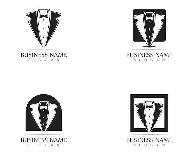 Modello di progettazione logo tuxedo