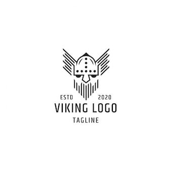 Modello di progettazione logo vichingo