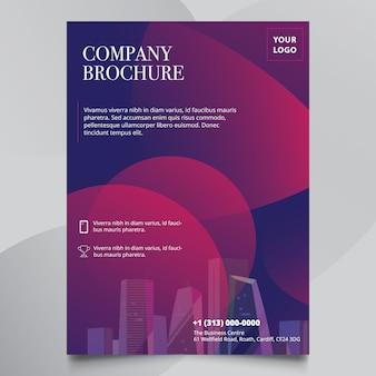 Modello di progettazione multifunzione aziendale brochure