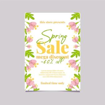 Modello di progettazione piana dell'aletta di filatoio di sconto mega di vendita della primavera