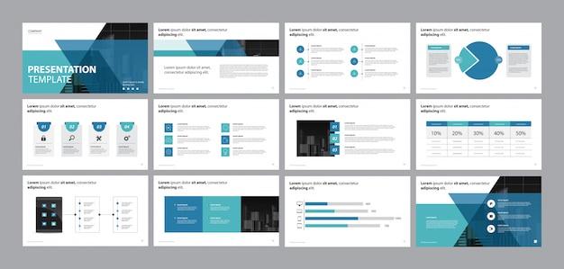 Modello di progettazione presentazione aziendale e layout di pagina